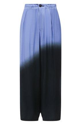 Женские брюки из вискозы Y`S синего цвета, арт. YD-P08-209 | Фото 1