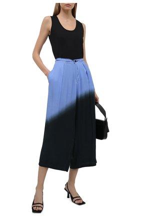 Женские брюки из вискозы Y`S синего цвета, арт. YD-P08-209 | Фото 2
