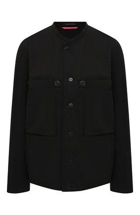 Женская хлопковая рубашка Y`S черного цвета, арт. YD-B43-030   Фото 1