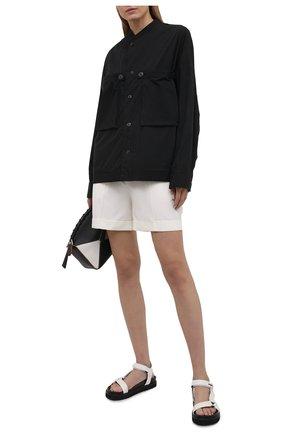 Женская хлопковая рубашка Y`S черного цвета, арт. YD-B43-030   Фото 2