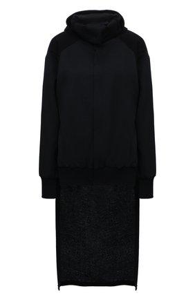 Женский шерстяной кардиган YOHJI YAMAMOTO черного цвета, арт. FD-J10-100   Фото 1