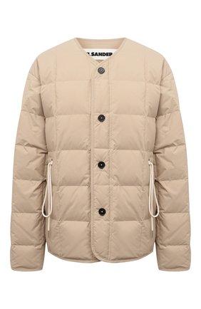 Женская пуховая куртка JIL SANDER бежевого цвета, арт. JPPS440394-WS460800   Фото 1