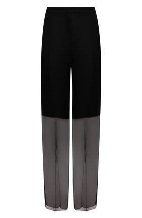 Женские шелковые брюки JIL SANDER черного цвета, арт. JSWS305824-WS282500   Фото 1