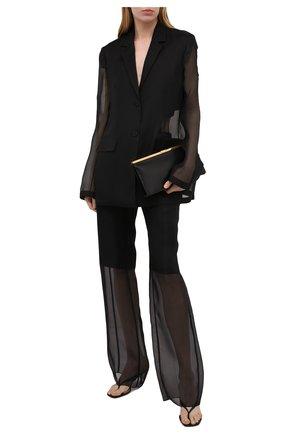 Женские шелковые брюки JIL SANDER черного цвета, арт. JSWS305824-WS282500   Фото 2