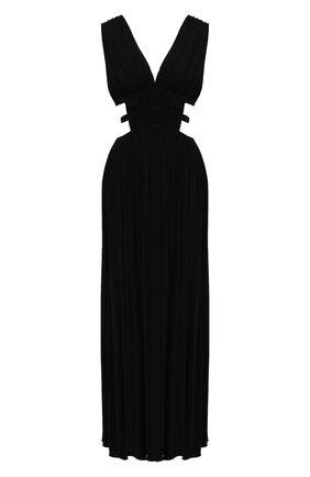 Женское платье из вискозы ERIKA CAVALLINI черного цвета, арт. S1/E/E1SK02 | Фото 1