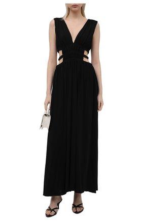 Женское платье из вискозы ERIKA CAVALLINI черного цвета, арт. S1/E/E1SK02 | Фото 2