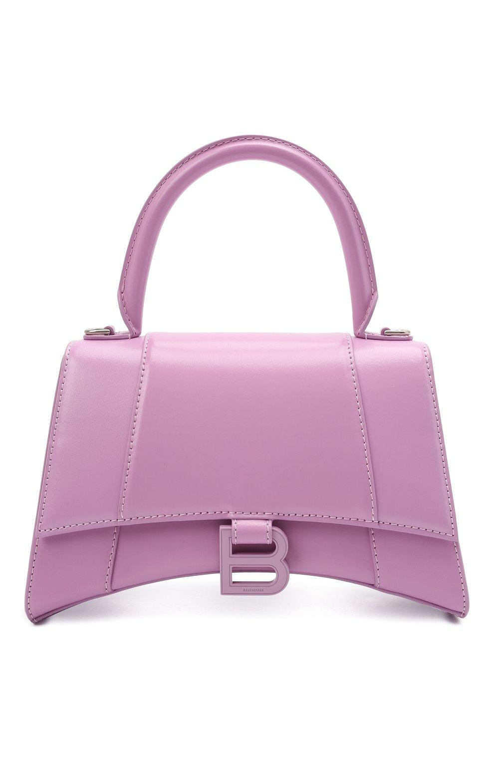 Женская сумка hourglass s BALENCIAGA сиреневого цвета, арт. 593546/1QJ4I | Фото 1