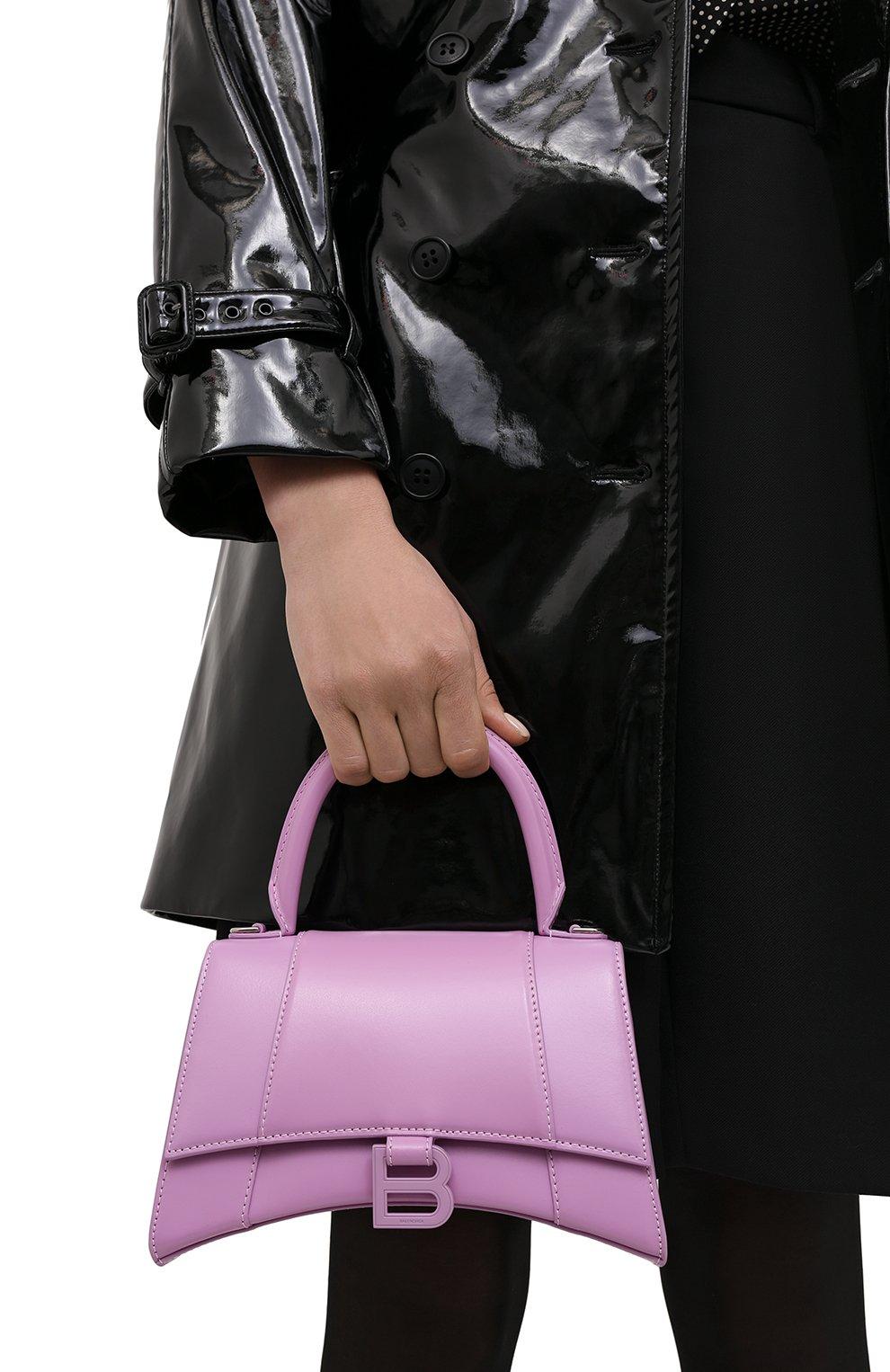 Женская сумка hourglass s BALENCIAGA сиреневого цвета, арт. 593546/1QJ4I | Фото 2
