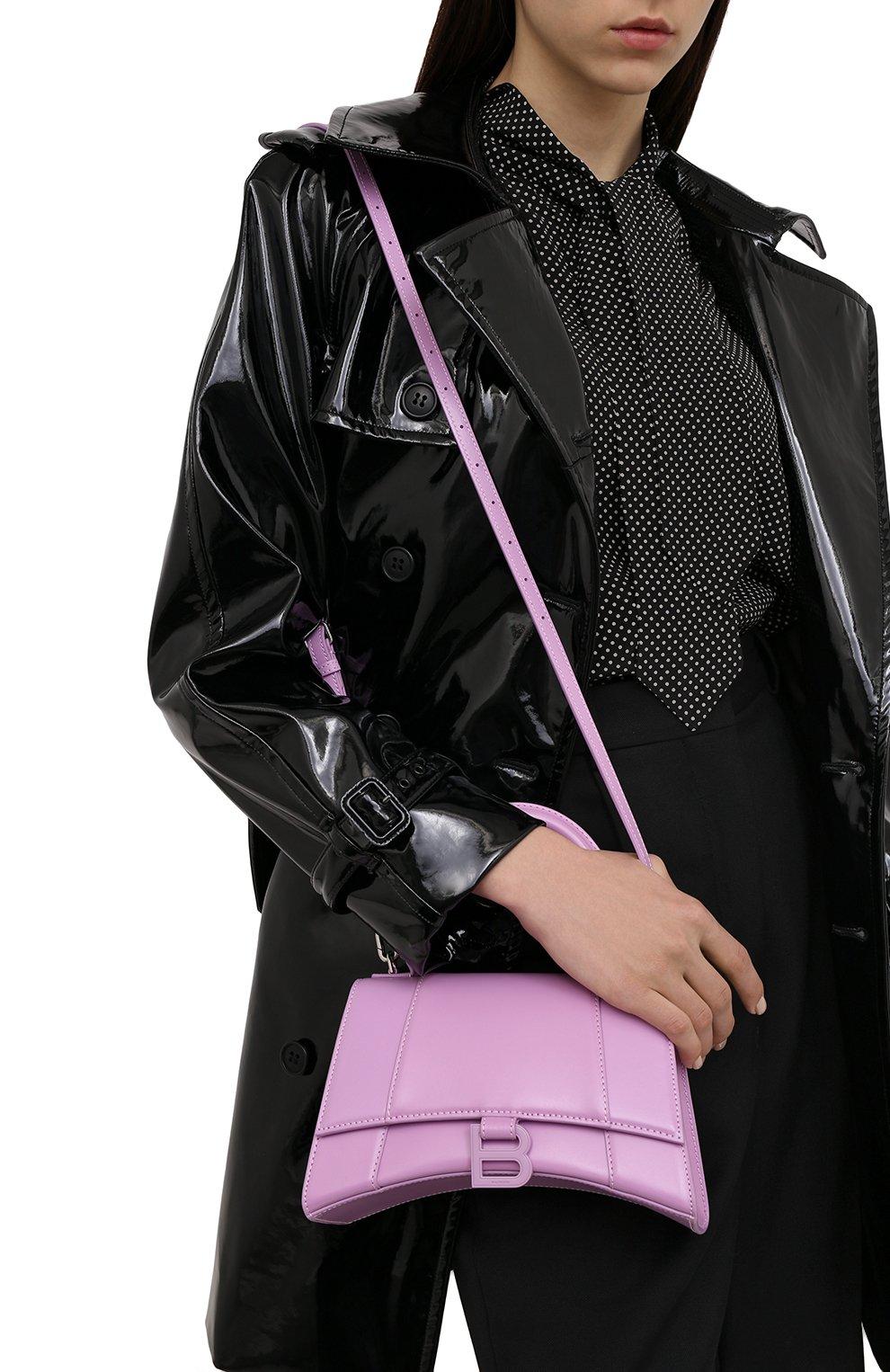 Женская сумка hourglass s BALENCIAGA сиреневого цвета, арт. 593546/1QJ4I | Фото 5