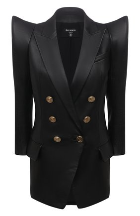 Женский кожаный жакет BALMAIN черного цвета, арт. VF0SI050/L151 | Фото 1