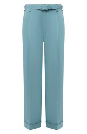 Женские брюки из вискозы RALPH LAUREN голубого цвета, арт. 290845622 | Фото 1