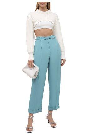 Женские брюки из вискозы RALPH LAUREN голубого цвета, арт. 290845622 | Фото 2