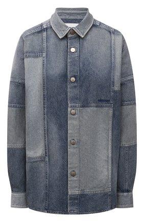 Женская джинсовая рубашка AMBUSH синего цвета, арт. BWYD001S21DEN001 | Фото 1