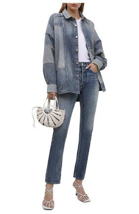 Женская джинсовая рубашка AMBUSH синего цвета, арт. BWYD001S21DEN001 | Фото 2