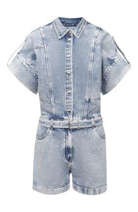 Женский джинсовый комбинезон IRO голубого цвета, арт. WM29M0NDELAN   Фото 1