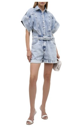 Женский джинсовый комбинезон IRO голубого цвета, арт. WM29M0NDELAN   Фото 2