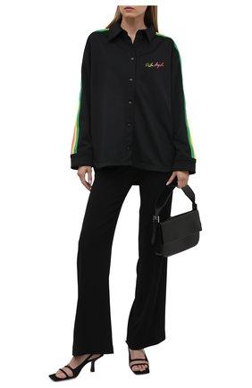 Женская рубашка PALM ANGELS черного цвета, арт. PWGA050S21FAB0011084   Фото 2