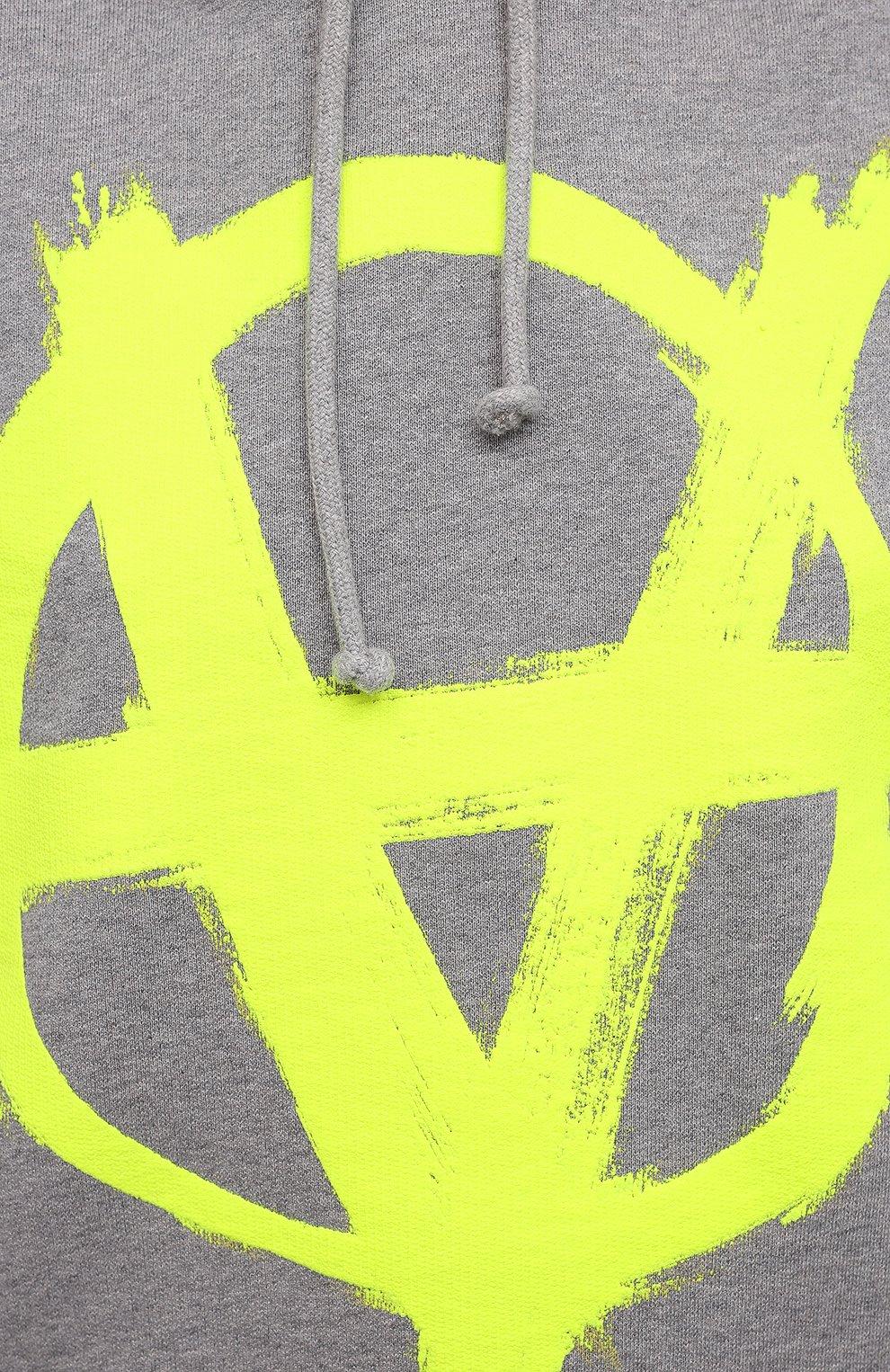 Женский хлопковое худи VETEMENTS серого цвета, арт. UA52TR820G 1601/W | Фото 5