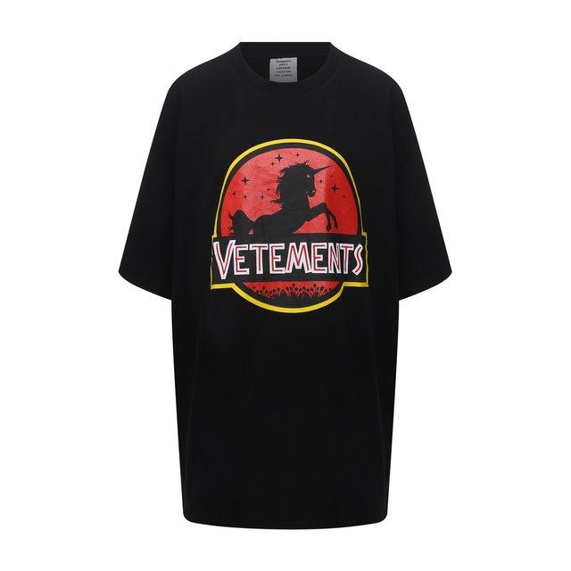 Хлопковая футболка VETEMENTS
