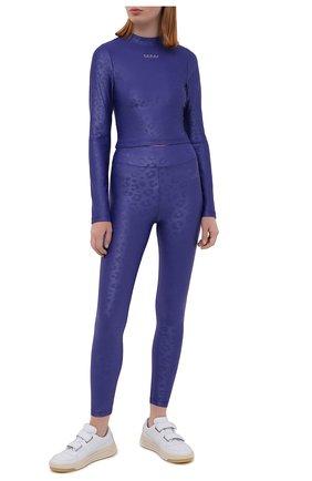 Женские леггинсы KORAL фиолетового цвета, арт. A2017HS06 | Фото 2