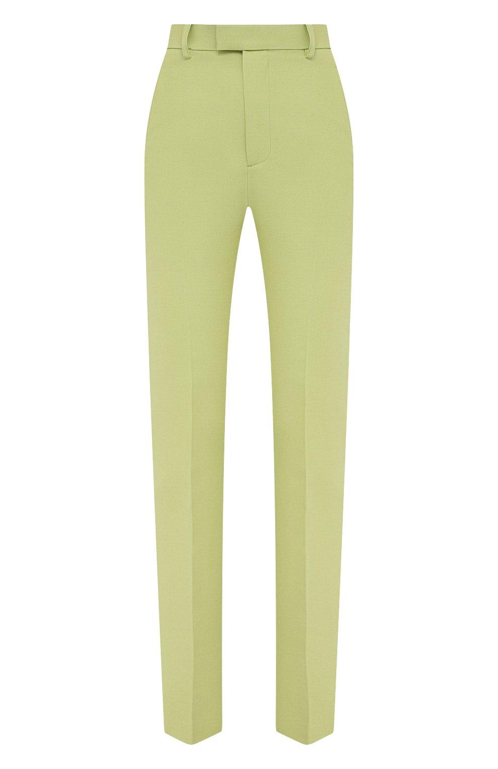 Женские хлопковые брюки BOTTEGA VENETA зеленого цвета, арт. 657740/V0BT0 | Фото 1
