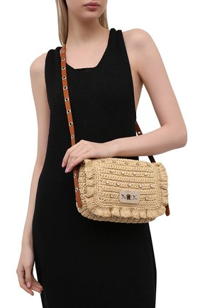 Женская сумка REDVALENTINO бежевого цвета, арт. VQ0B0C03/BBQ   Фото 2
