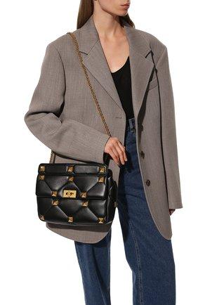 Женская сумка roman stud VALENTINO черного цвета, арт. VW0B0I60/BSF | Фото 2