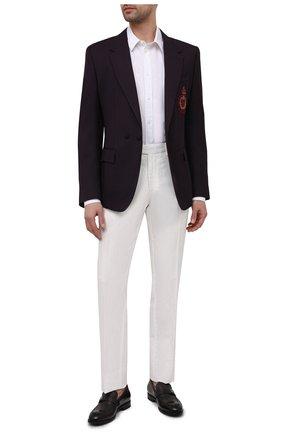 Мужской пиджак из шерсти и шелка DOLCE & GABBANA бордового цвета, арт. G2PN7Z/FU22A | Фото 2