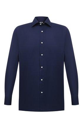 Мужская хлопковая сорочка LUIGI BORRELLI темно-синего цвета, арт. EV08/LUCIAN0/S10715 | Фото 1