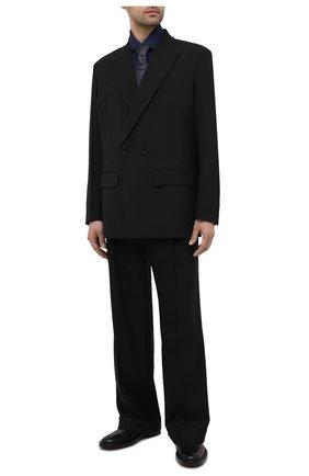 Мужская хлопковая сорочка LUIGI BORRELLI темно-синего цвета, арт. EV08/LUCIAN0/S10715 | Фото 2