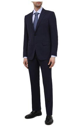 Мужская хлопковая сорочка CANALI голубого цвета, арт. 7718/GX02201 | Фото 2