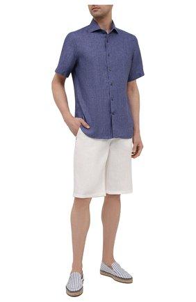 Мужские текстильные эспадрильи seaside walk LORO PIANA синего цвета, арт. FAL7002 | Фото 2 (Материал внешний: Текстиль; Материал внутренний: Текстиль)