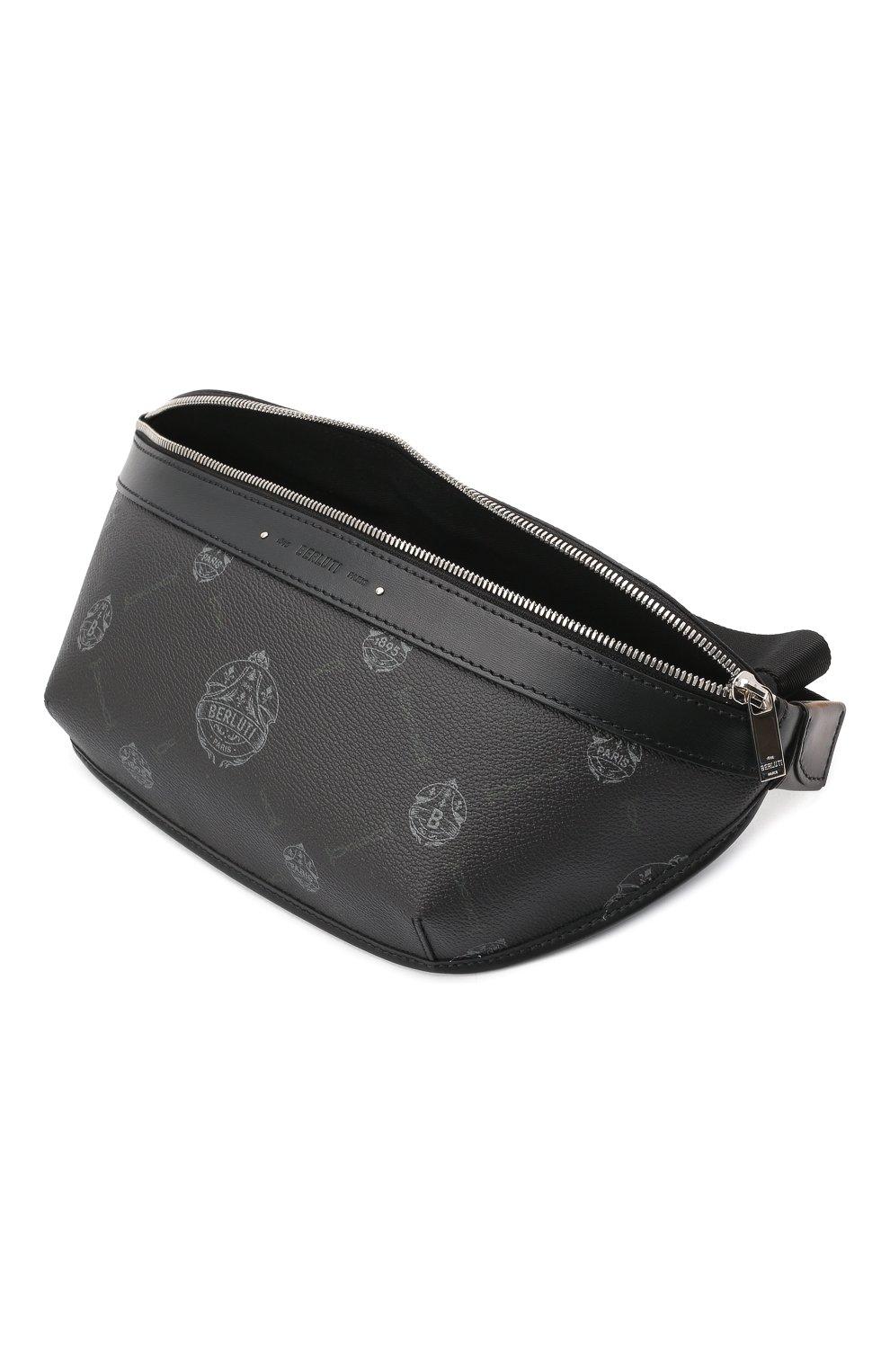 Мужская поясная сумка BERLUTI черного цвета, арт. M223398 | Фото 4