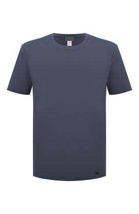 Мужская хлопковая футболка HANRO темно-синего цвета, арт. 075050 | Фото 1