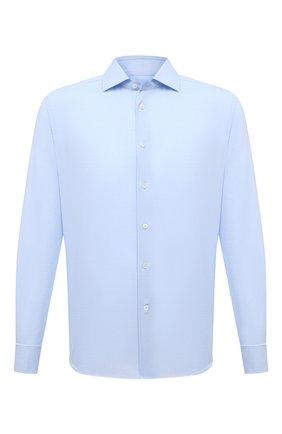 Мужская хлопковая сорочка CORNELIANI голубого цвета, арт. 87P150-1111267/00 | Фото 1