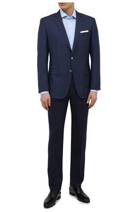 Мужская хлопковая сорочка CORNELIANI голубого цвета, арт. 87P150-1111267/00 | Фото 2