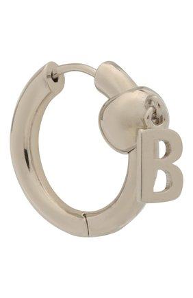 Мужские серебряная моносерьга BALENCIAGA серебряного цвета, арт. 596179/J8400 | Фото 2