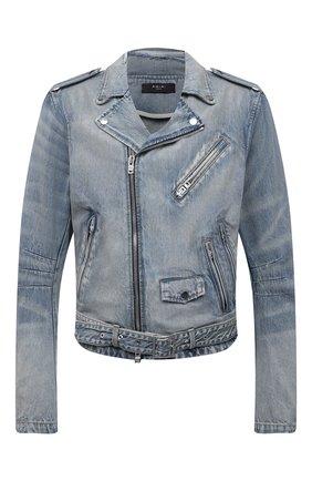 Мужская джинсовая куртка AMIRI синего цвета, арт. MDT007-408 | Фото 1 (Кросс-КТ: Деним, Куртка; Длина (верхняя одежда): Короткие; Материал внешний: Хлопок; Рукава: Длинные; Стили: Гранж)