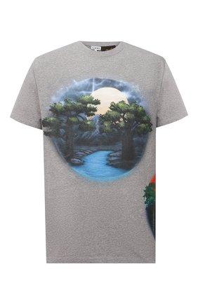 Мужская хлопковая футболка loewe x paula's ibiza LOEWE серого цвета, арт. H616Y22X18 | Фото 1