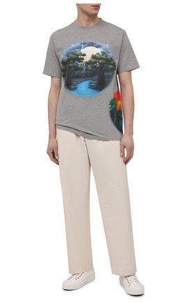 Мужская хлопковая футболка loewe x paula's ibiza LOEWE серого цвета, арт. H616Y22X18 | Фото 2
