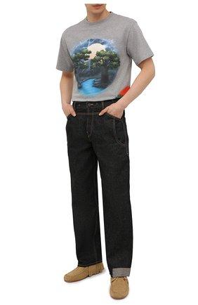 Мужские замшевые мокасины loewe x paula's ibiza LOEWE бежевого цвета, арт. M616290X01 | Фото 2