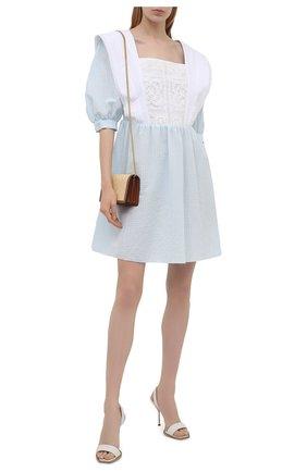 Женское хлопковое платье MASTERPEACE светло-голубого цвета, арт. MP-R21-33   Фото 2