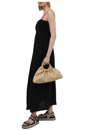 Женские кожаные сандалии SALVATORE FERRAGAMO бежевого цвета, арт. Z-07424311C   Фото 2
