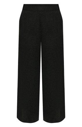 Женские кашемировые брюки LORO PIANA темно-серого цвета, арт. FAL3033 | Фото 1 (Материал внешний: Шерсть, Кашемир; Стили: Кэжуэл; Силуэт Ж (брюки и джинсы): Широкие; Женское Кросс-КТ: Брюки-одежда; Длина (брюки, джинсы): Укороченные)