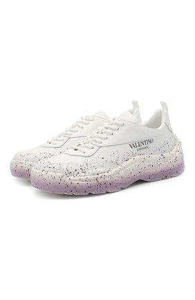 Женские кожаные кроссовки gumboy VALENTINO белого цвета, арт. VW0S0K55/RZX | Фото 1