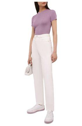 Женские кожаные кроссовки gumboy VALENTINO белого цвета, арт. VW0S0K55/RZX | Фото 2