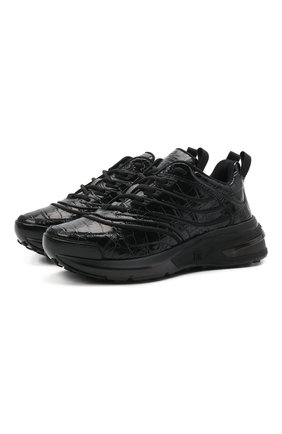 Женские кожаные кроссовки giv 1 GIVENCHY черного цвета, арт. BE001ME10S | Фото 1