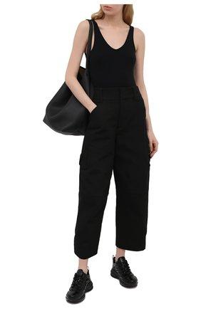 Женские кожаные кроссовки giv 1 GIVENCHY черного цвета, арт. BE001ME10S | Фото 2