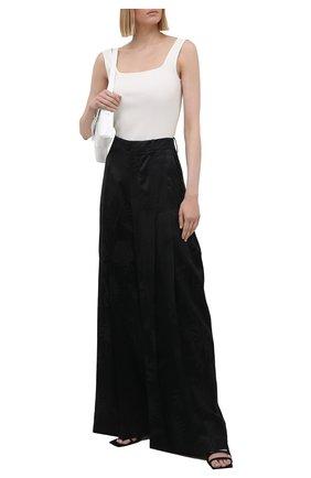 Женские брюки из вискозы JW ANDERSON черного цвета, арт. TR0126 PG0498 | Фото 2