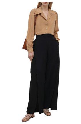 Женские кожаные сандалии rockstud VALENTINO темно-бежевого цвета, арт. VW0S0A05/V0D | Фото 2 (Материал внутренний: Натуральная кожа; Подошва: Плоская; Каблук высота: Низкий)